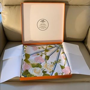 Brand new in box Hermes floral scarf